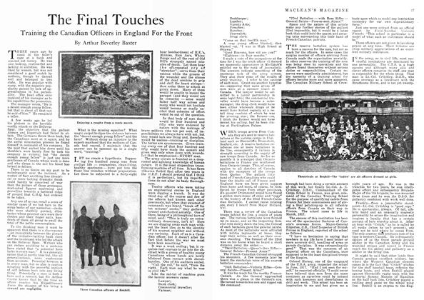 Article Preview: The Final Touches, April 1918 | Maclean's