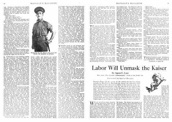 Article Preview: Labor Will Unmask the Kaiser, April 1918 | Maclean's