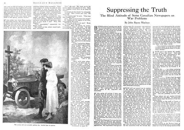 Article Preview: Suppressing the Truth, April 1918 | Maclean's