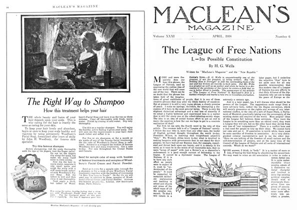 Article Preview: The League of Free Nations, April 1918 | Maclean's