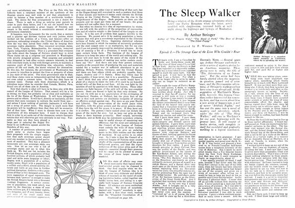 Article Preview: The Sleep Walker, April 1918 | Maclean's