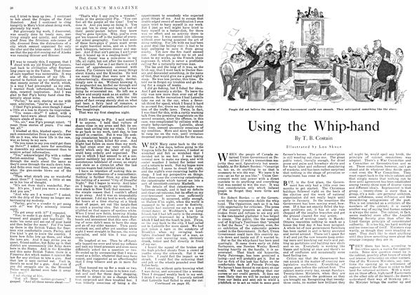 Article Preview: Using the Whip-hand, April 1918 | Maclean's