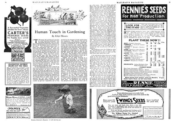 Article Preview: Human Touch in Gardening, May 1918 | Maclean's