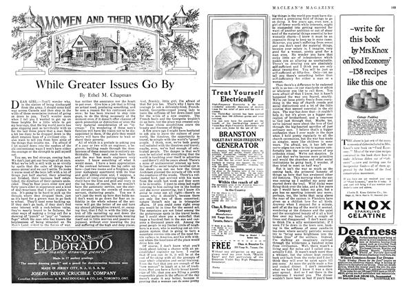 Article Preview: While Greater Issues Go By, May 1918 | Maclean's