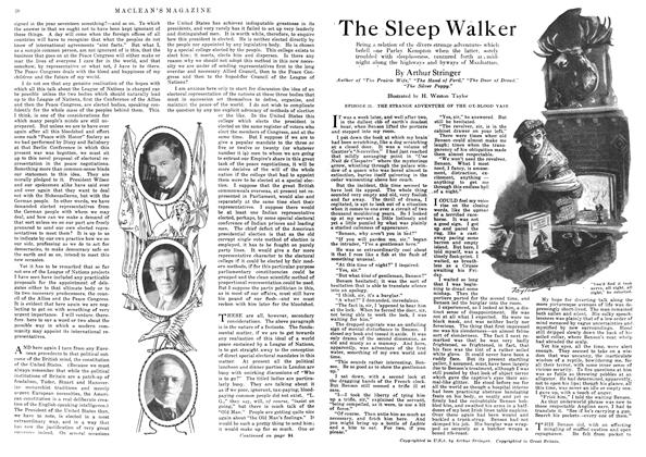 Article Preview: The Sleep Walker, May 1918 | Maclean's