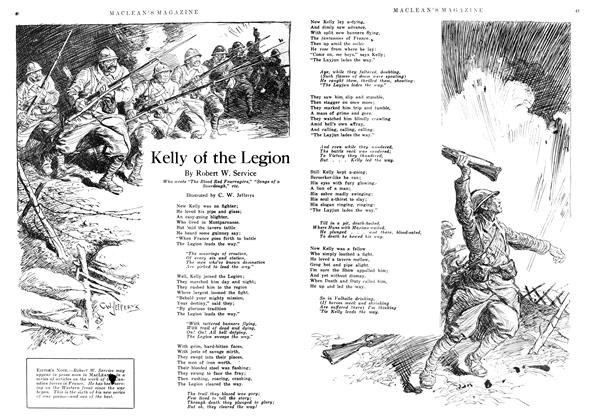 Article Preview: Kelly of the Legion, June 1918 | Maclean's