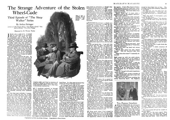 Article Preview: The Strange Adventure of the Stolen Wheel-Code, June 1918 | Maclean's