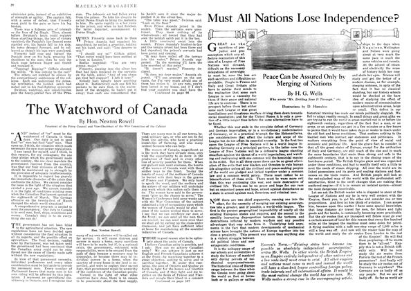 Article Preview: Must All Nations Lose Independence?, June 1918 | Maclean's