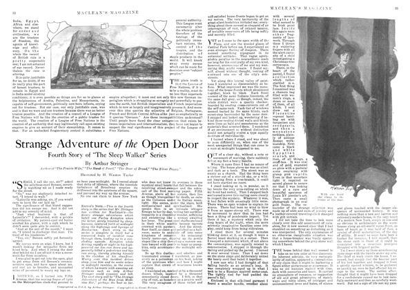 Article Preview: Strange Adventure of the Open Door, July 1918 | Maclean's