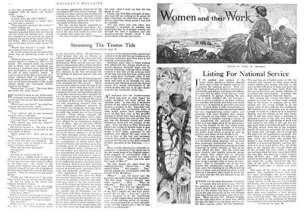 Article Preview: Listing For National Service, July 1918 | Maclean's