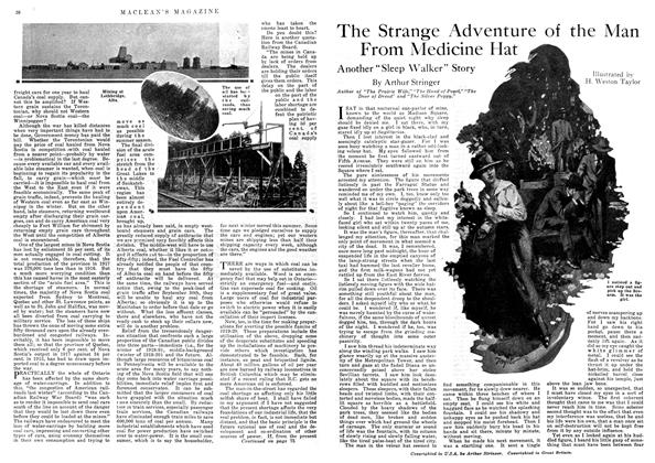 Article Preview: The Strange Adventure of the Man From Medicine Hat, August 1918 | Maclean's