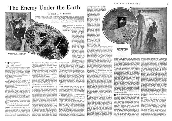 Article Preview: The Enemy Under the Earth, August 1918 | Maclean's
