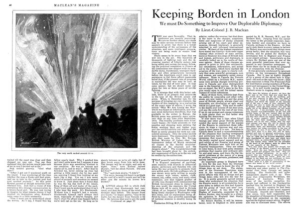 Article Preview: Keeping Borden in London, August 1918 | Maclean's