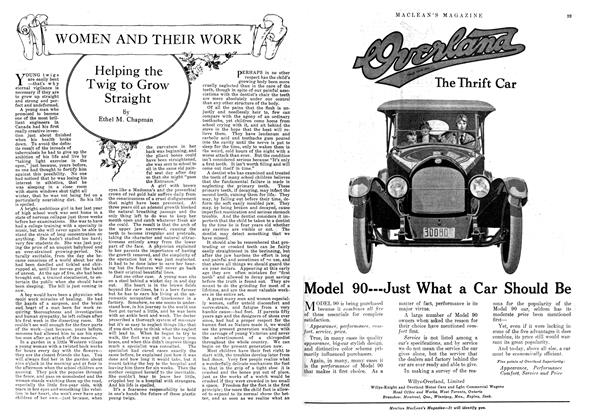 Article Preview: Helping the Twig to Grow Straight, August 1918   Maclean's