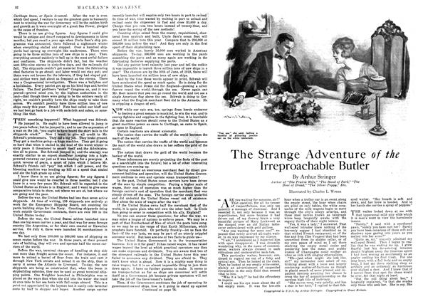 Article Preview: The Strange Adventure of the Irreproachable Butler, September 1918 | Maclean's