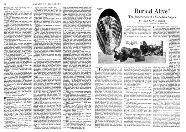 Article Preview: Buried Alive!, September 1918 | Maclean's