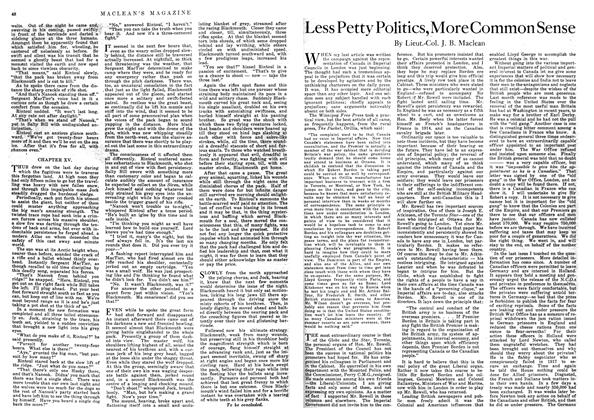 Article Preview: Less Petty Politics, More Common Sense, September 1918 | Maclean's