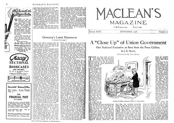 """Article Preview: A """"Close Up"""" of Union Government, September 1918 