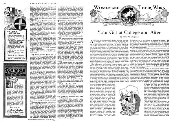 Article Preview: Your Girl at College and After, September 1918 | Maclean's