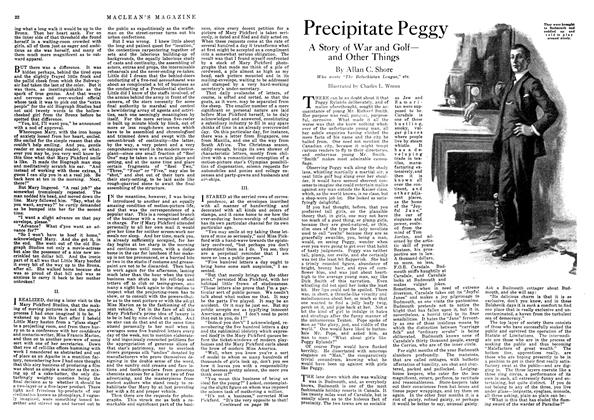 Article Preview: Precipitate Peggy, October 1918 | Maclean's