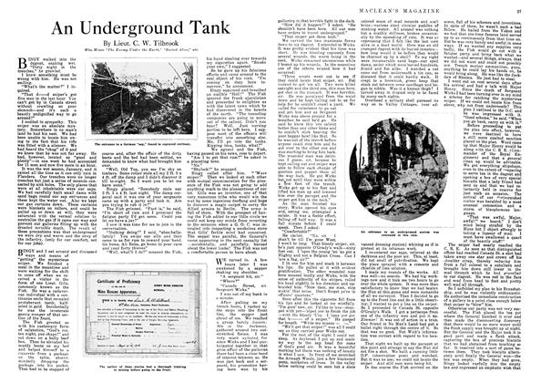 Article Preview: An Underground Tank, October 1918 | Maclean's