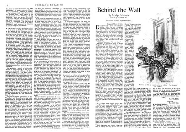 Article Preview: Behind the Wall, October 1918 | Maclean's
