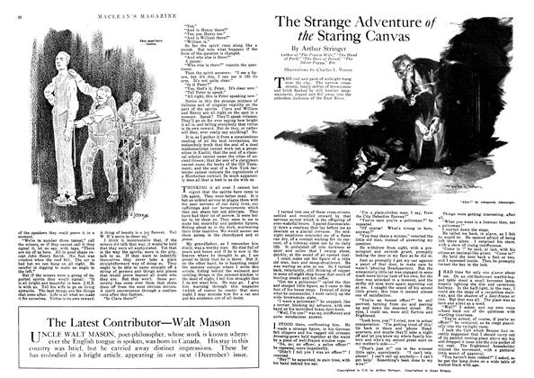 Article Preview: The Strange Adventure of the Staring Canvas, November 1918 | Maclean's