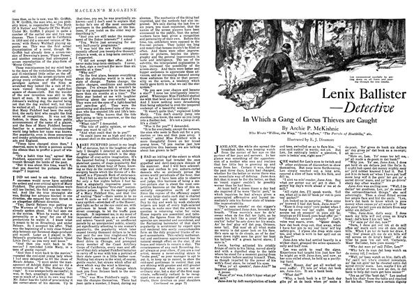 Article Preview: Lenix Ballister —Detective, November 1918 | Maclean's