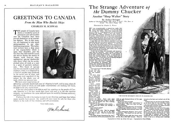 Article Preview: The Strange Adventure the Dummy Chucker, December 1918 | Maclean's