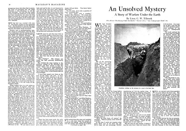 Article Preview: An Unsolved Mystery, December 1918 | Maclean's