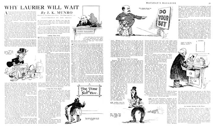 Article Preview: WHY LAURIER WILL WAIT, January 1919 | Maclean's