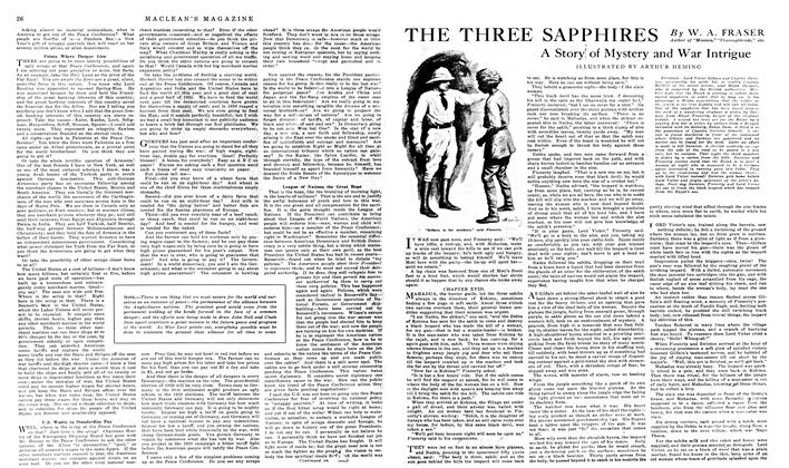 Article Preview: THE THREE SAPPHIRES, January 1919 | Maclean's