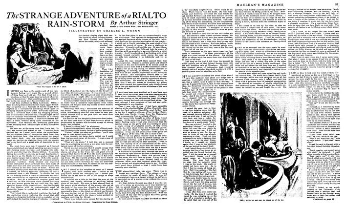 Article Preview: The STRANGE ADVENTURE of a RIALTO RAIN-STORM, January 1919 | Maclean's
