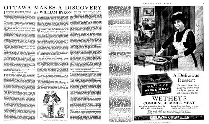 Article Preview: OTTAWA MAKES A DISCOVERY, January 1919 | Maclean's