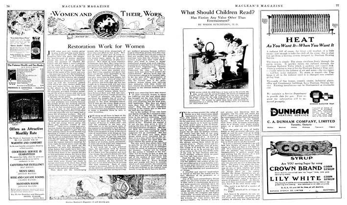 Article Preview: What Should Children Read?, January 1919 | Maclean's
