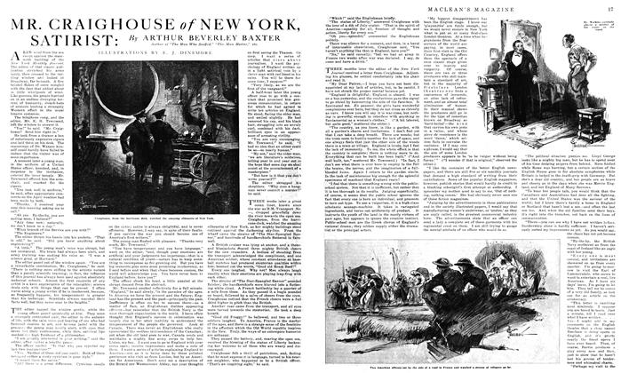 Article Preview: MR. CRAIGHOUSE of NEW YORK, SATIRIST, January 1919 | Maclean's