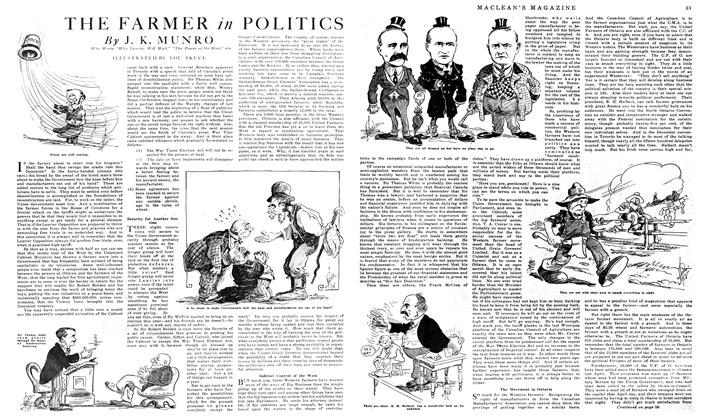 Article Preview: THE FARMER in POLITICS, February 1919 | Maclean's