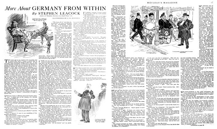 Article Preview: More About GERMANY FROM WITHIN, February 1919 | Maclean's