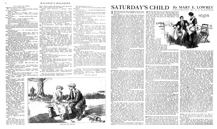 Article Preview: SATURDAY'S CHILD, February 1919 | Maclean's
