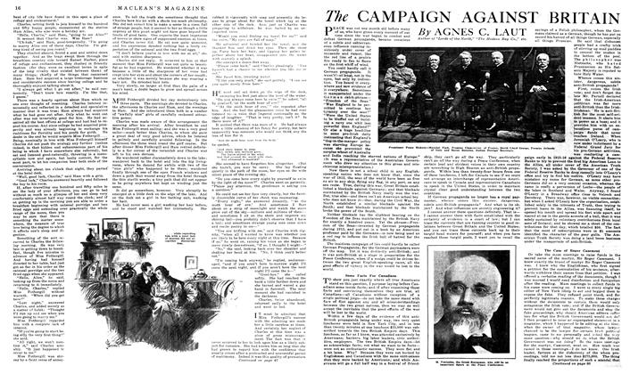 Article Preview: The CAMPAIGN AGAINST BRITAIN, February 1919 | Maclean's