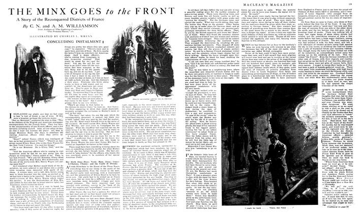 Article Preview: THE MINX GOES to the FRONT, February 1919 | Maclean's
