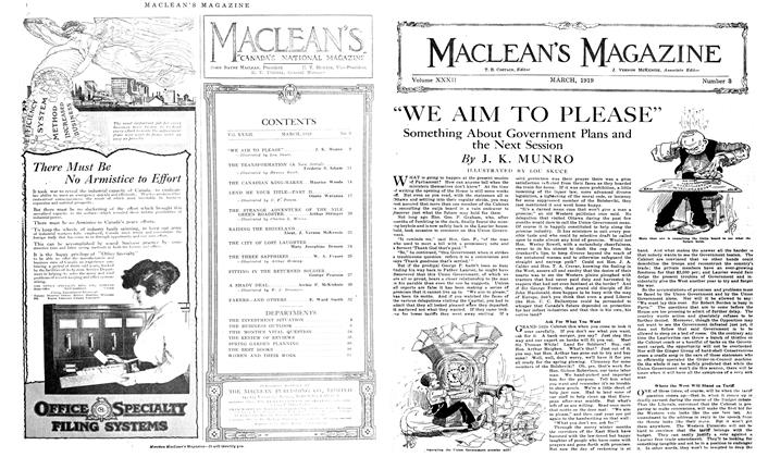 "Article Preview: ""WE AIM TO PLEASE"", March 1919 