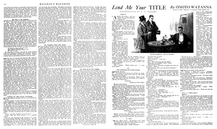 Article Preview: Lend Me Your TITLE, March 1919 | Maclean's