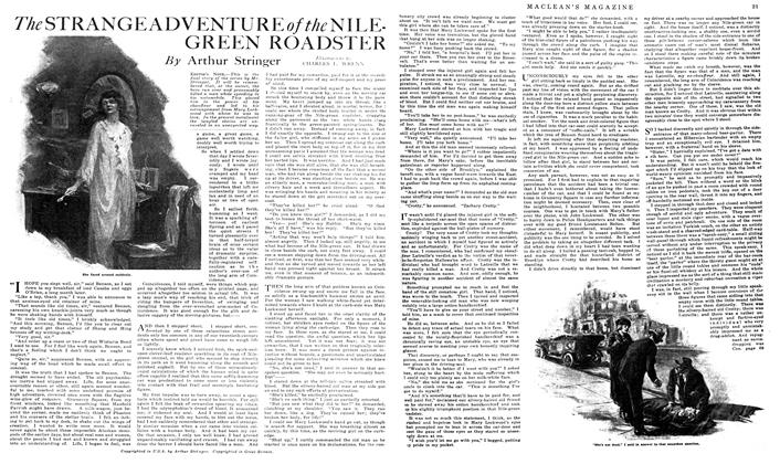 Article Preview: The STRANGE ADVENTURE of the NILE-GREEN ROADSTER, March 1919 | Maclean's