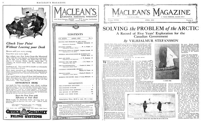 Article Preview: SOLVING the PROBLEM of the ARCTIC, April 1919 | Maclean's