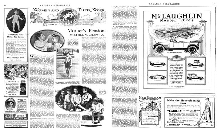 Article Preview: Mother's Pensions, April 1919 | Maclean's