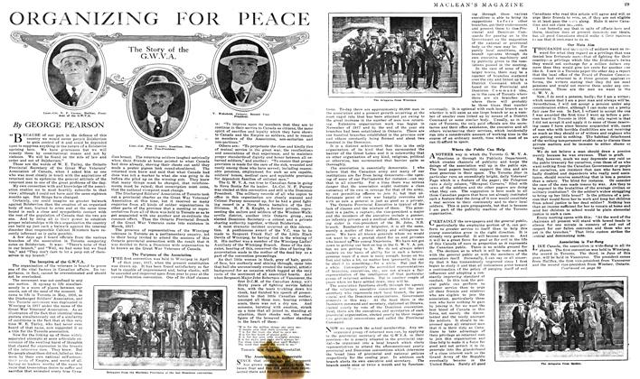 Article Preview: ORGANIZING FOR PEACE, May 1919 | Maclean's