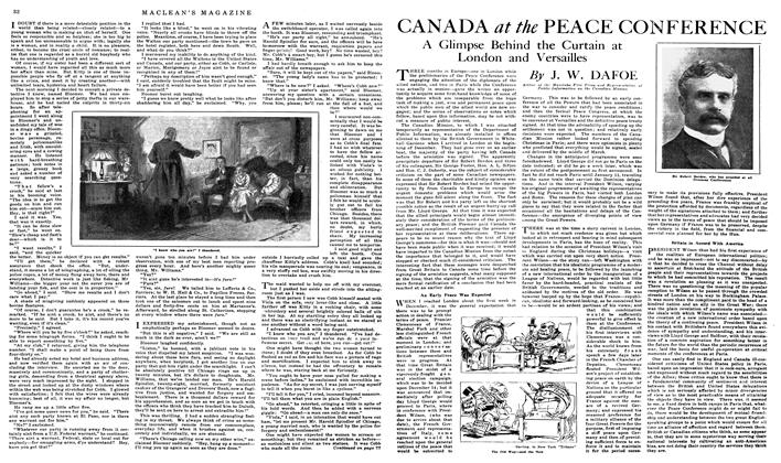 Article Preview: CANADA at the PEACE CONFERENCE, May 1919 | Maclean's