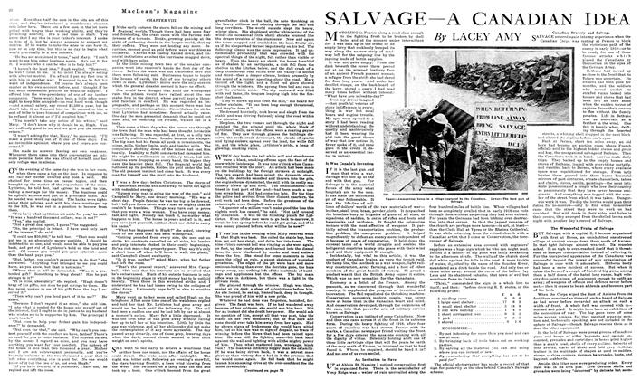 Article Preview: SALVAGE — A CANADIAN IDEA, June 1919 | Maclean's
