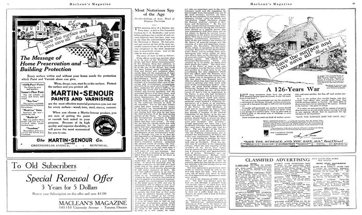 Article Preview: Most Notorious Spy of the Age, June 1919   Maclean's